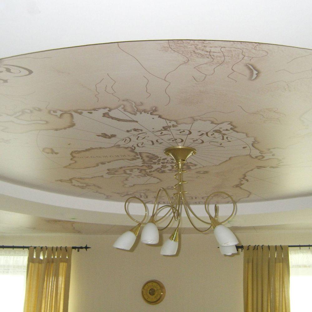 Арт-потолок (мат, сатин)